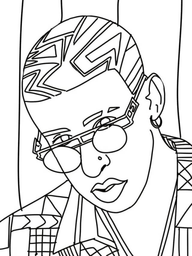 Bad Bunny Coloring Pages - Free Printable Coloring Pages for Kids