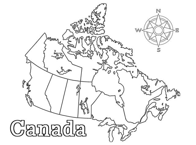 Canada Map Coloring Page - Free Printable Coloring Pages for Kids