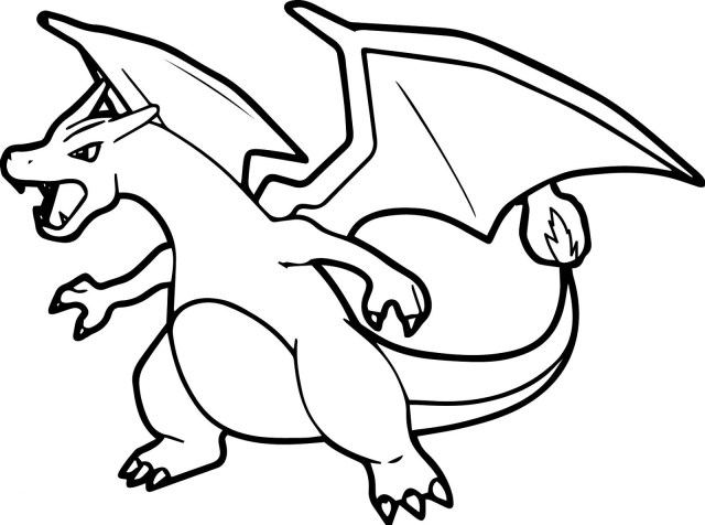 Charizard Pokemon Coloring Page - Free Printable Coloring Pages