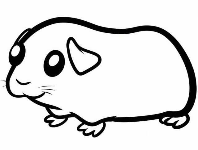 Cute Guinea Pig 28 Coloring Page - Free Printable Coloring Pages