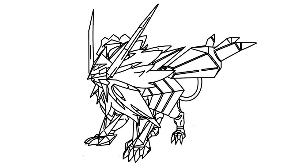 Necrozma Coloring Pages Free Printable Coloring Pages For Kids