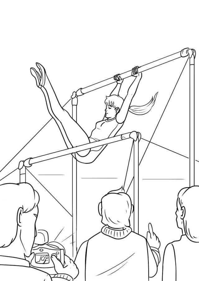 Gymnastics 27 Coloring Page - Free Printable Coloring Pages for Kids