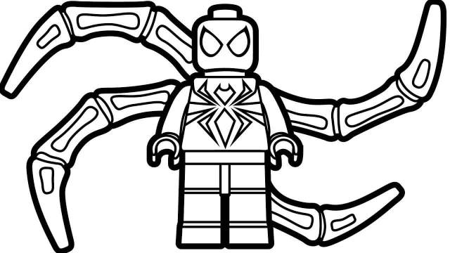 Lego Iron Spiderman Coloring Page - Free Printable Coloring Pages
