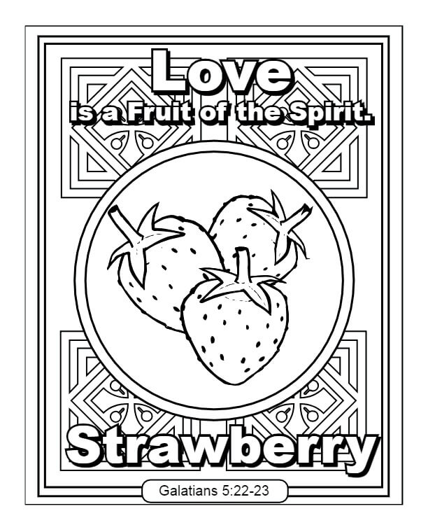 Love Fruit Of The Spirit Coloring Page Free Printable Coloring Pages For Kids