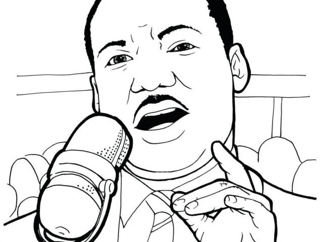 Martin Luther King Jr 24 Coloring Page - Free Printable Coloring