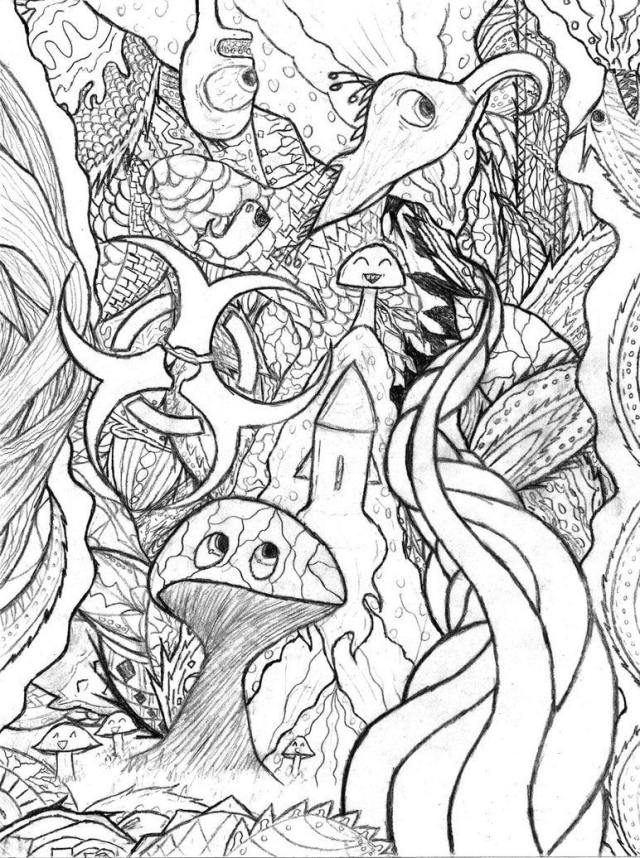 Splendi Trippy Coloring Page - Free Printable Coloring Pages for Kids