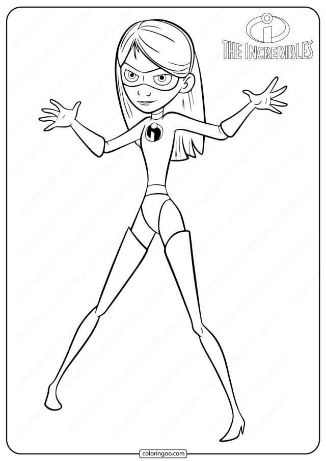 Disney The Incredibles Violet PDF Coloring Pages