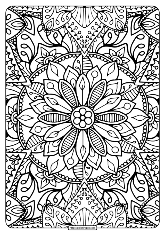 Printable Coloring Book Pages for Adults 16