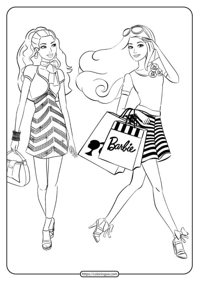 Free Printable Barbie Coloring Pages 19