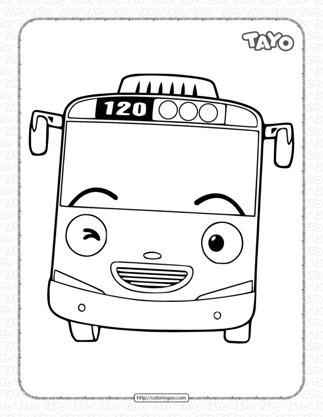 Printable Tayo Coloring Pages