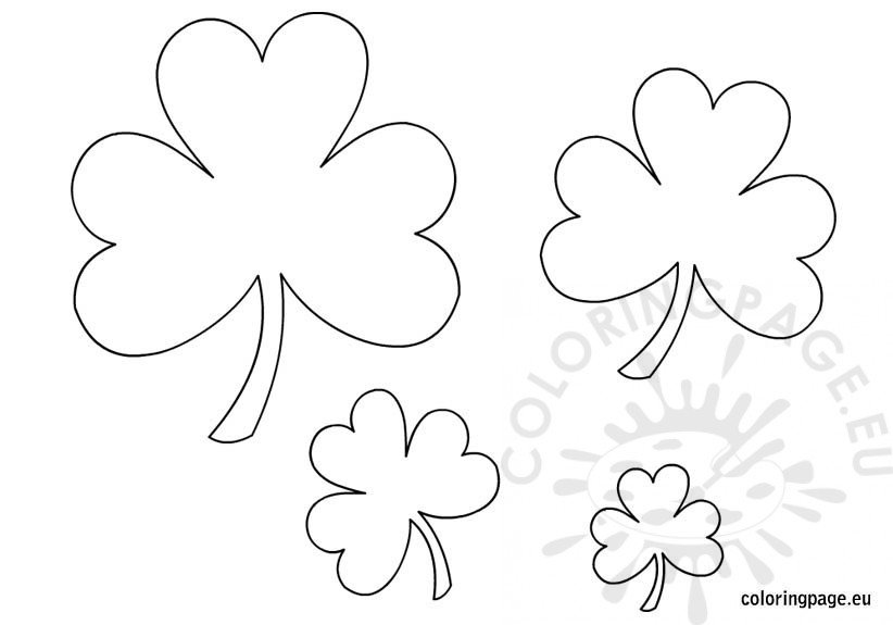 printable shamrock templates coloring page
