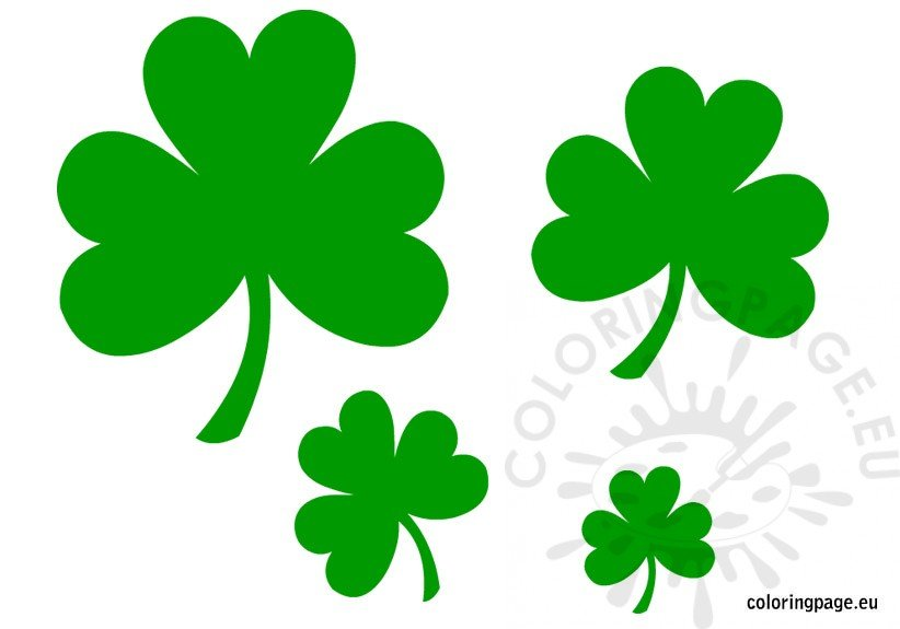 st patrick 39 s day shamrock coloring page