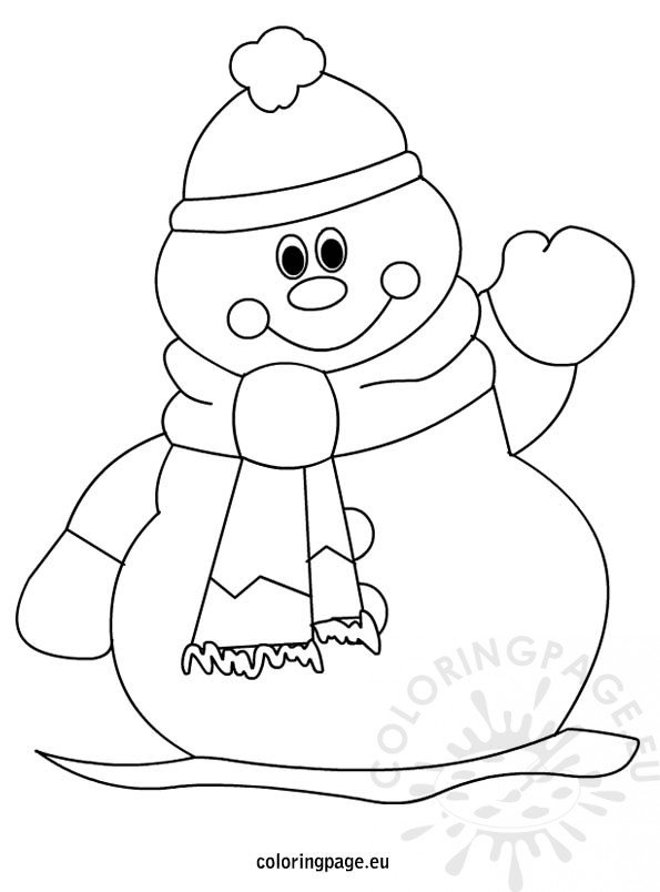 coloring pages related to winter snowman coloring page for kids