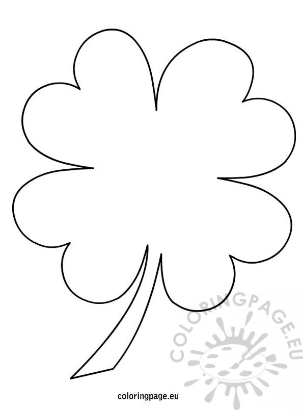 4 leaf clover coloring page – coloring page