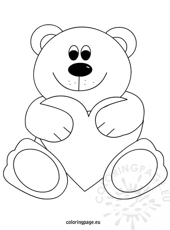 cute love teddy bear coloring pages coloring pages related to