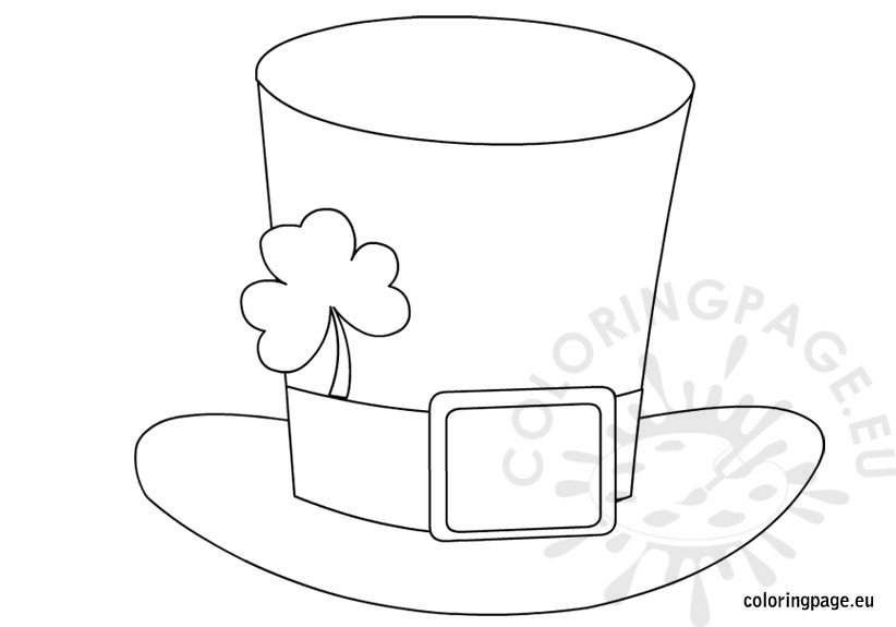 st patrick 39 s day hat coloring page