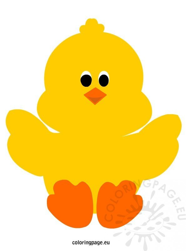 easter chick to print coloring page
