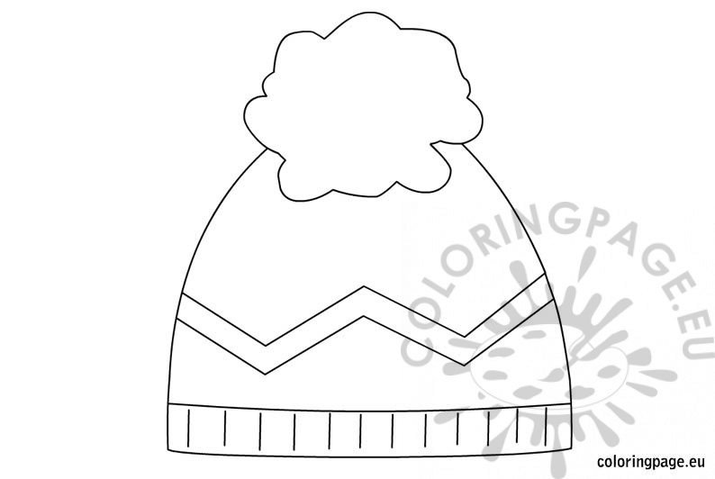 page coloring pages related to winter hat coloring page snowman