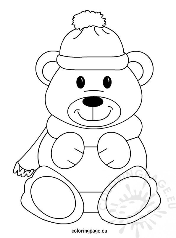 teddy bear masks colouring pages