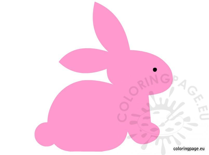 bunny clip art coloring page