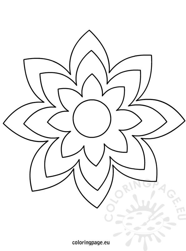 flower template colouring pages page 2
