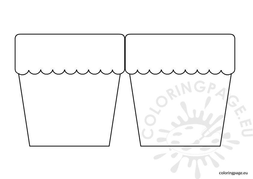 flower pot card template