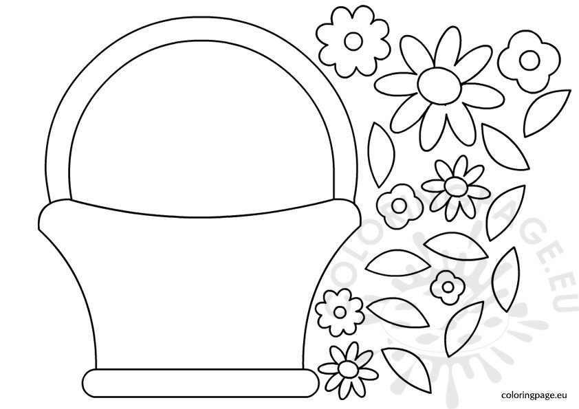 flower coloring template