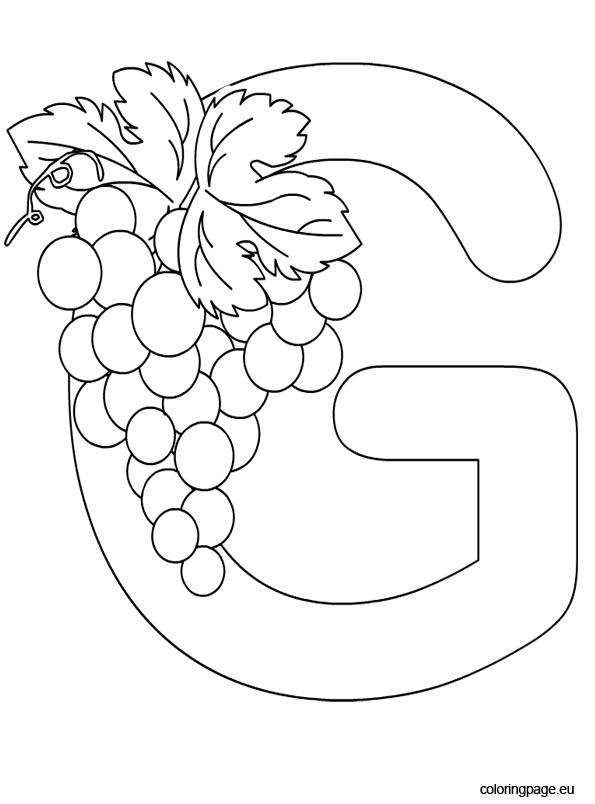 alphabet letter g colo