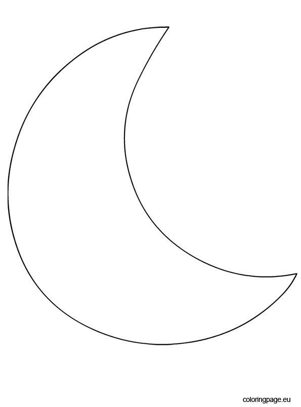 Crescent Moon Templates Printable Shape Related Keywords