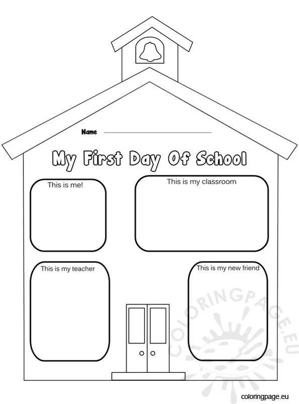first day of school coloring page – coloring page