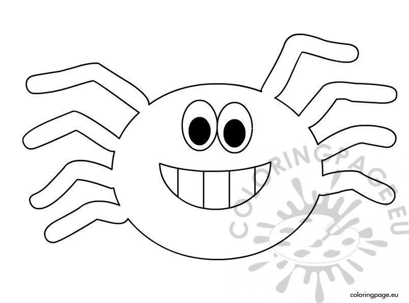 halloween spider coloring sheet