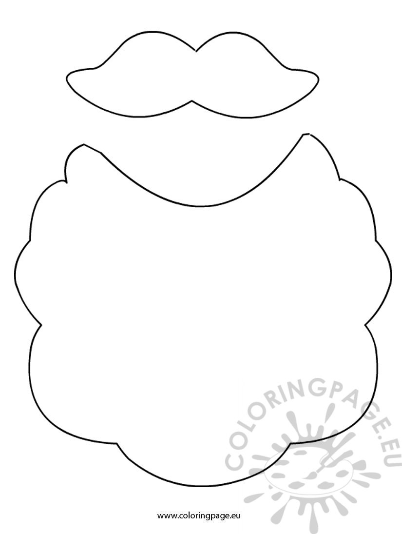 coloring pages related to beard and mustache