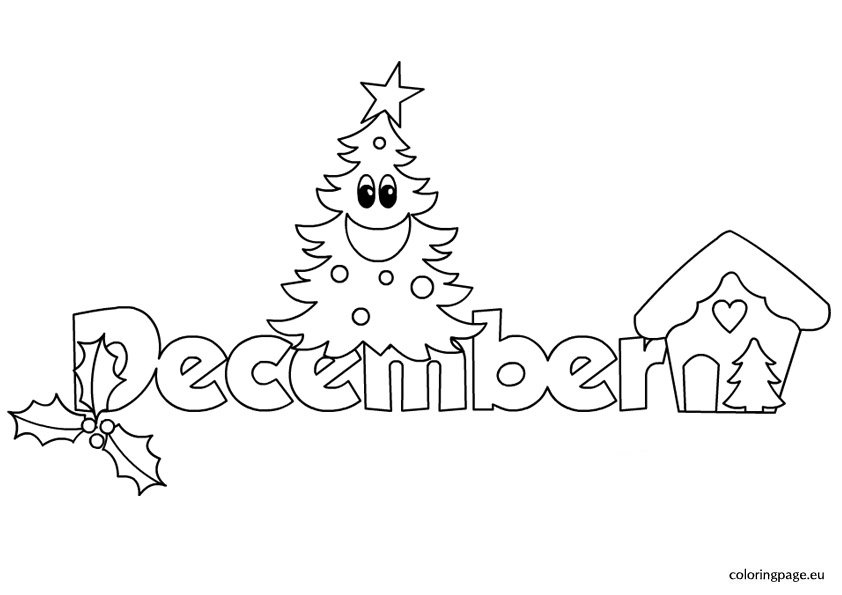 month december coloring page
