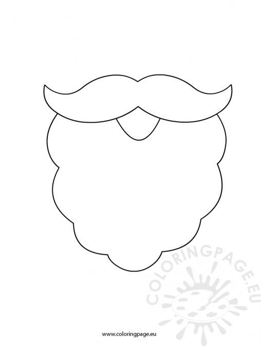 santa beard colouring pages