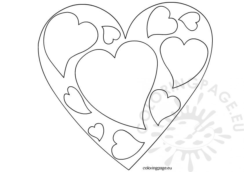valentine 39 s day heart coloring page