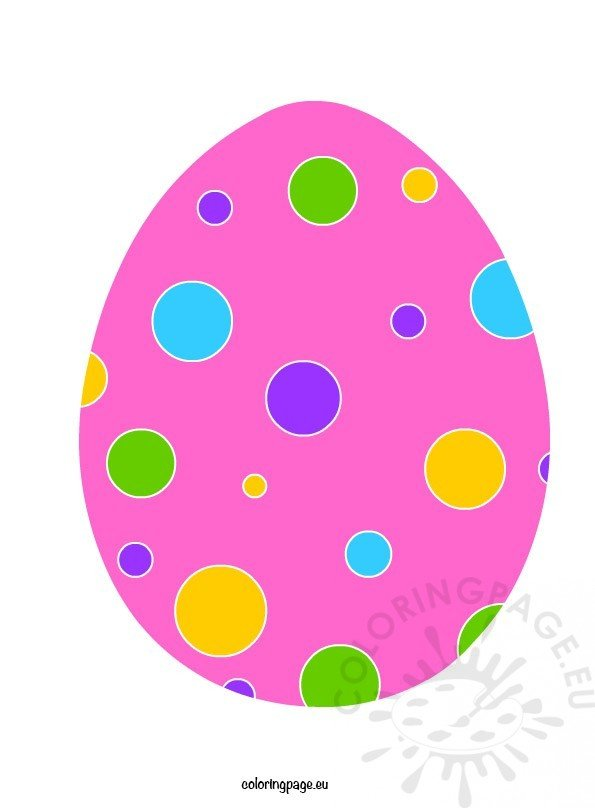 printable easter egg coloring page