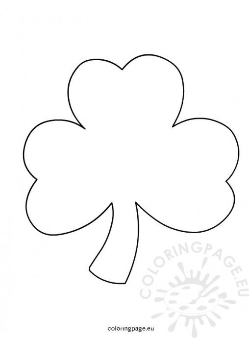 printable shamrock and bubble letters st patricks day coloring page
