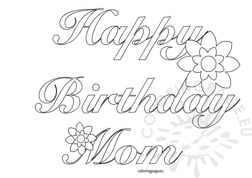 happy birthday mum colouring pages page 2 pictures to pin on pinterest