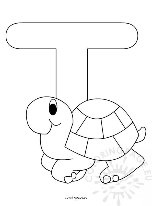 alphabet letter t colouring pages
