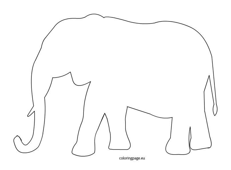 elephant template coloring page