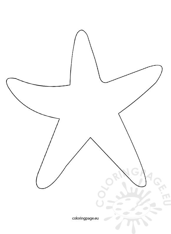 starfish template coloring page
