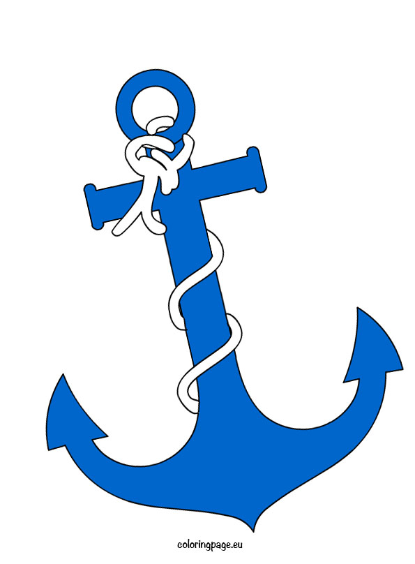 Anchor Clipart Coloring Page