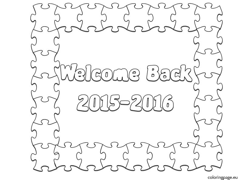 welcome back  coloring page – coloring page