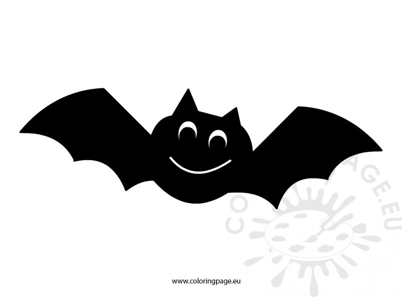 halloween bat clipart coloring page