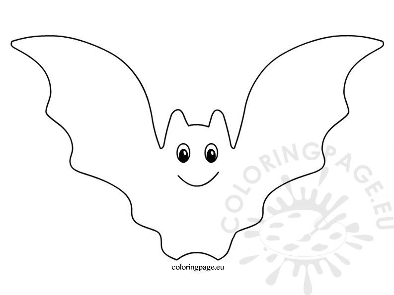 halloween bat clipart black and white coloring page