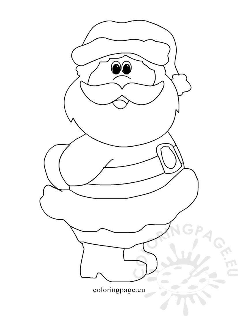 Printable Santa Claus Coloring Page
