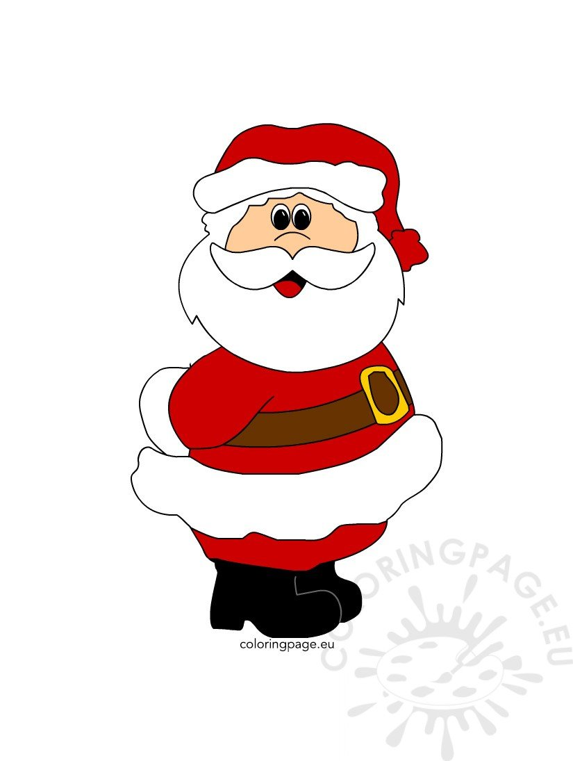 the gallery for gt simple santa face coloring pages