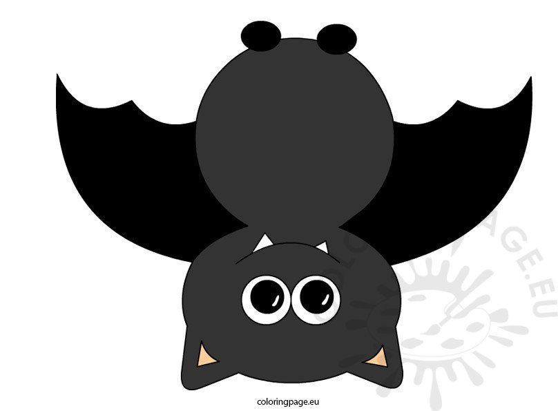 free bat clipart coloring page