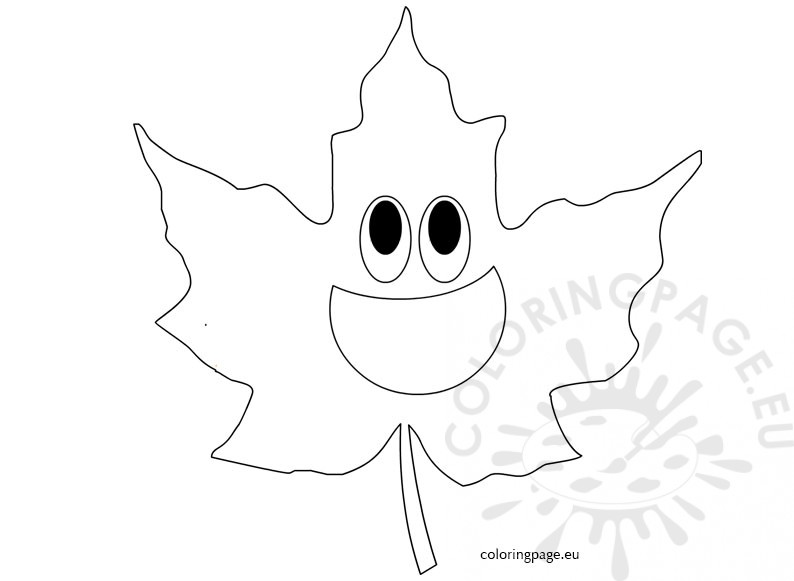 maple leaf coloring page coloring pages
