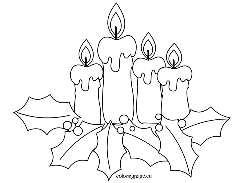 christmas coloring page advent candles coloring page